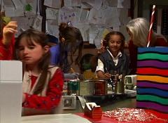 Santa puts Bethany (Jenny) to work.