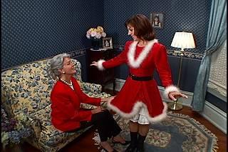 Sandy as the first female Santa.