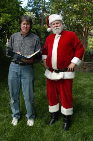 Director, Robert Battaile with Santa.