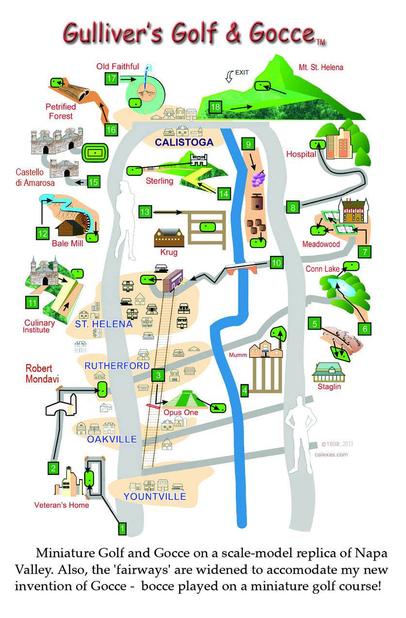 Enjoy the miniature golf map.